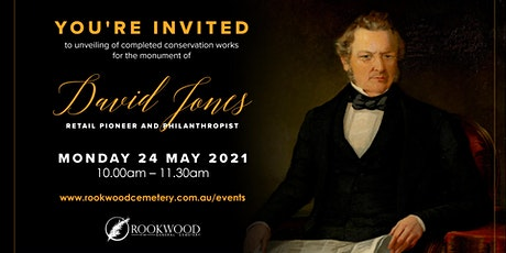 David Jones - Unveiling at Rookwood Cemetery tickets