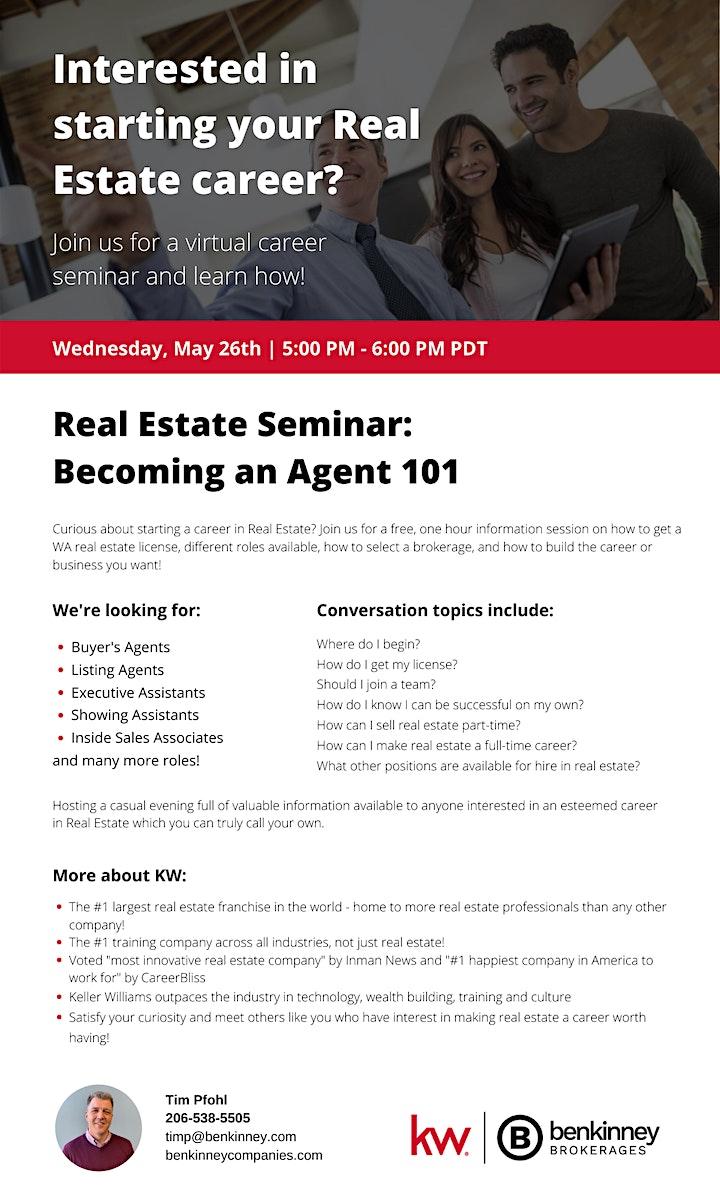 Real Estate Career Seminar image
