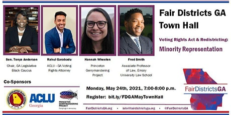 "Fair Districts GA May Town Hall ""Voting Rights Act and Redistricting"" tickets"