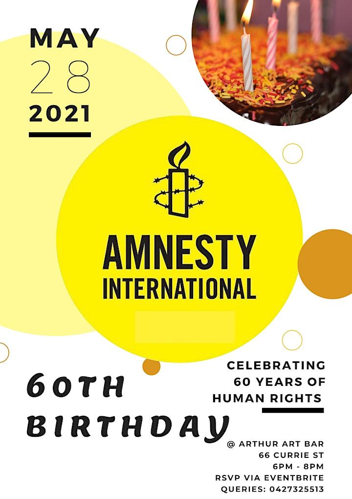 Amnesty International's 60th Birthday image