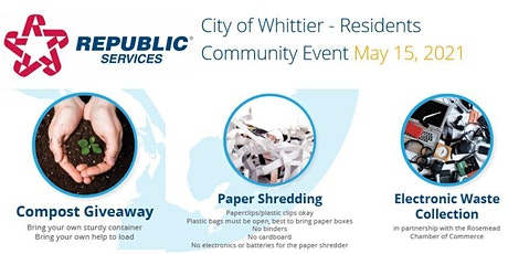 Community Event for City  of Whittier Residents  -  Republic Services tickets