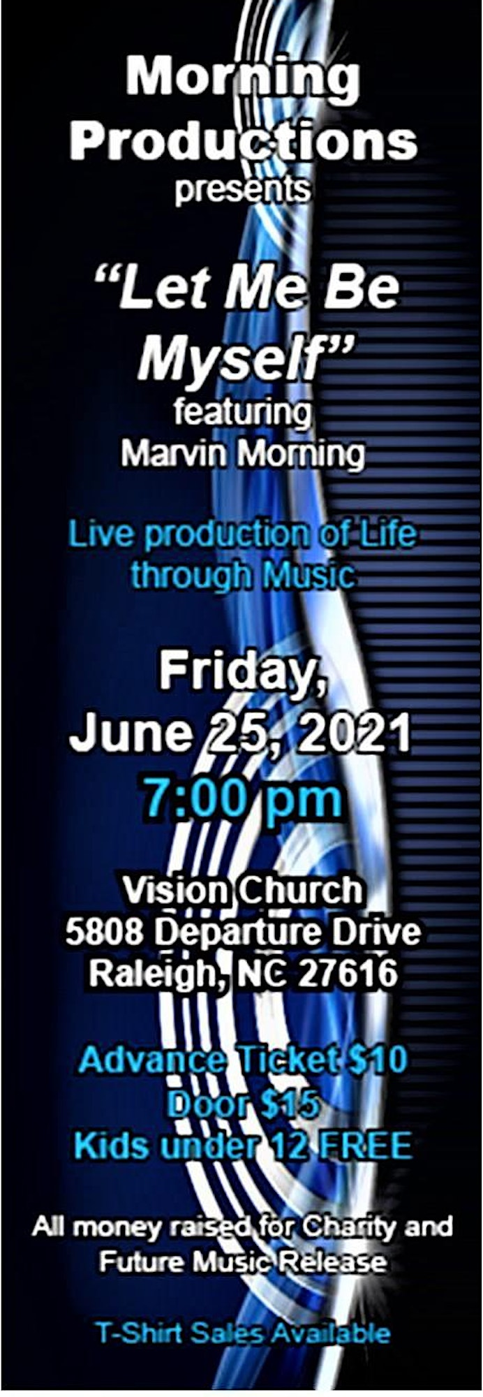 """Live Concert """"Let Me Be Myself"""" featuring Marvin Morning image"""