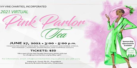 2021 Ivy Vine Charities, Inc.  Virtual Pink Parlor Tea tickets