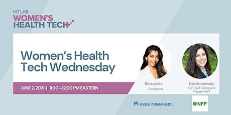 Women's Health Tech Wednesdays | Deb Smolensky, NFP tickets