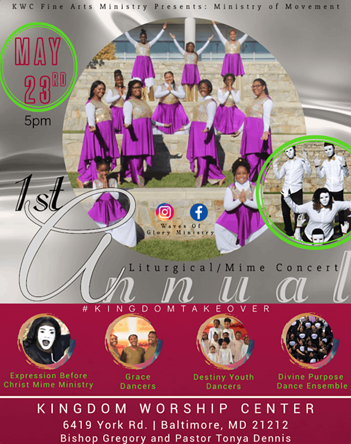 KWC presents Ministry of Movement 1st Annual Liturgical/Mime Concert image