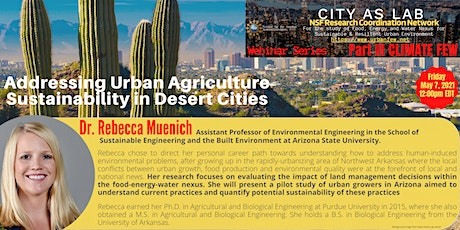 Addressing Urban Agriculture Sustainability in Desert Cities tickets