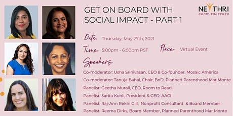 Get On Board With Social Impact - Part 1 tickets