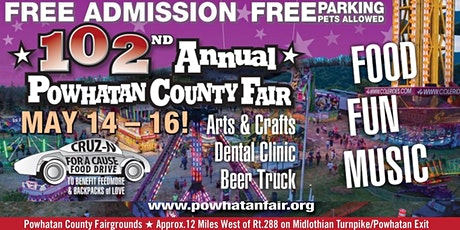 Powhatan County Fair   May 14-16, 2021 tickets