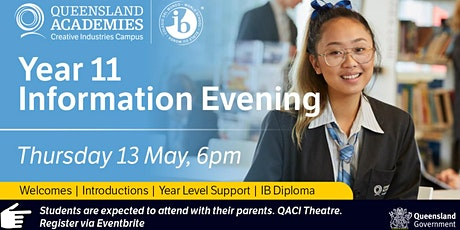 Year 11 Parent and Student Information Evening tickets
