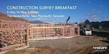 Construction Survey Breakfast tickets