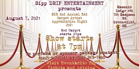 SDR 2nd Annual Red Carpet Artist Appreciation Night 2021 tickets