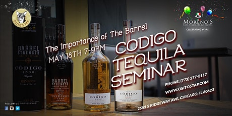 The Importance of the Barrel, Codigo Tequila Seminar boletos