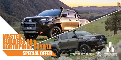 Master Builders SA & Northpoint Toyota Special Offer tickets