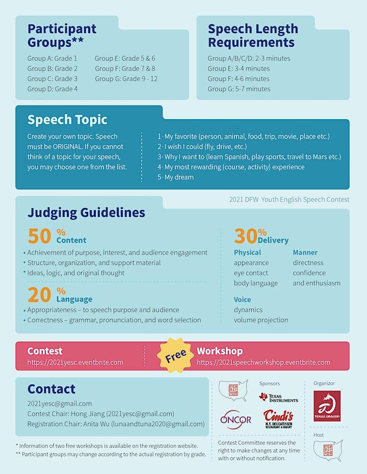 2021 DFW Youth English Speech Contest image