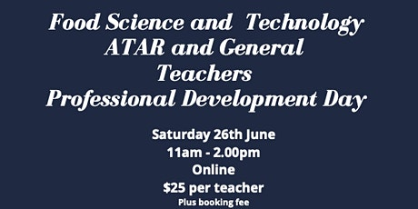 Food Science and Technology Teachers Day tickets