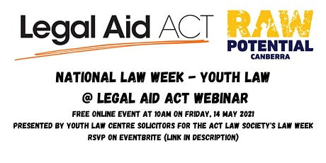 National Law Week - Youth Law @ Legal Aid ACT Webinar tickets