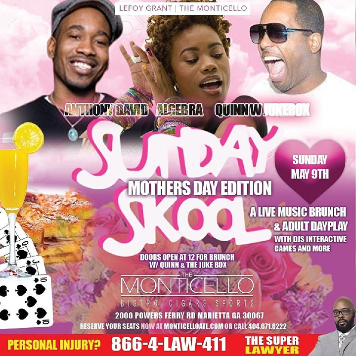Mother's Day with Anthony David, Algebra & Quinn LIVE- GET TIX @ THE DOOR image