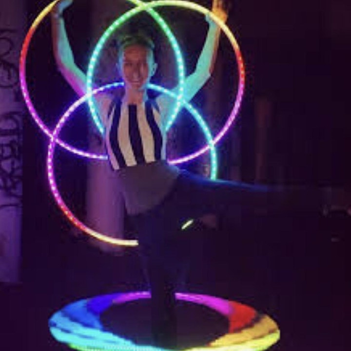 Glow-in-the-Dark MoonDANCE on Willows Beach wearing Silent DJ headsets image