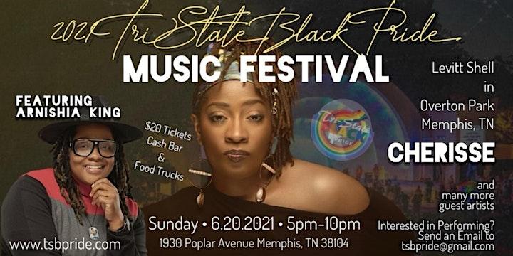 TRISTATE BLACK PRIDE MUSIC FESTIVAL @ THE LEVITT SHELL IN OVERTON PARK image