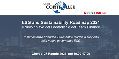 ESG and Sustainability Roadmap 2021, il ruolo del Controller & Finance Team biglietti