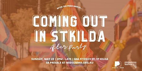 Coming Out in St Kilda - Midsumma Pride March Official After Party tickets