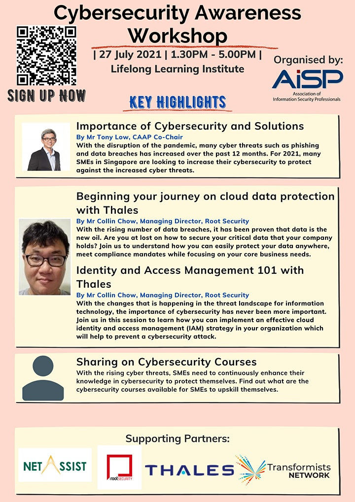 AiSP Cybersecurity Awareness Workshop image