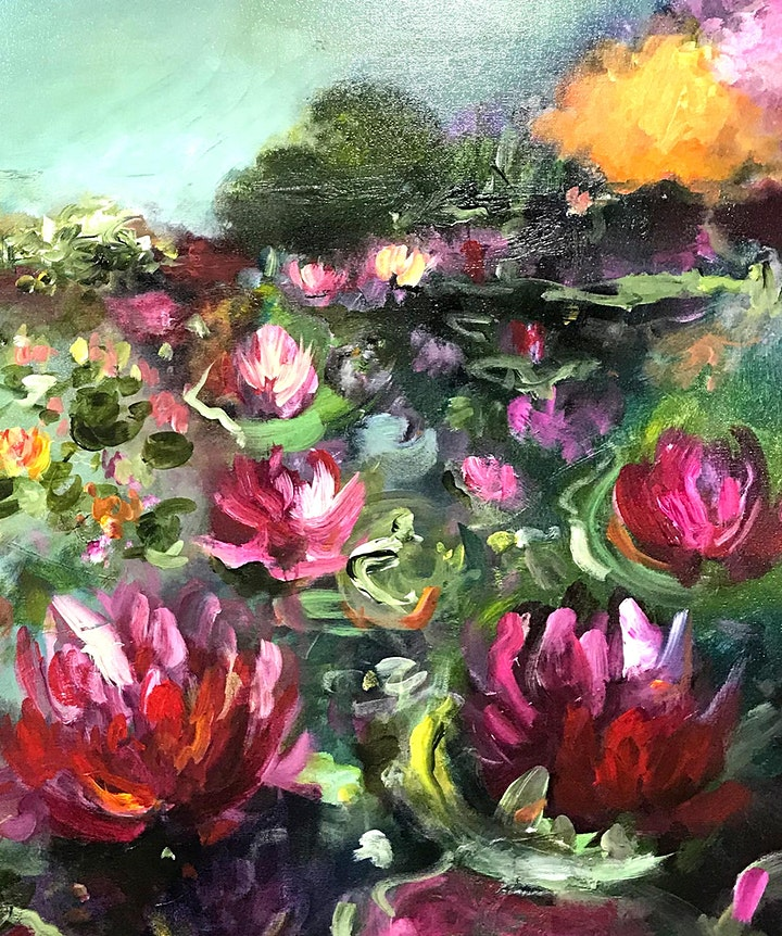 Abstract Water Lillies - Art Class image