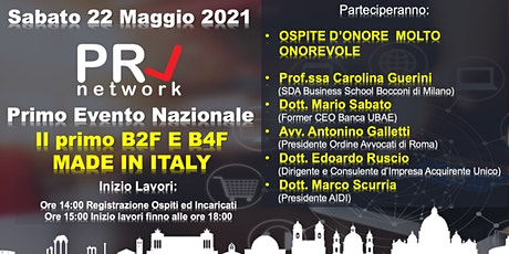 PRL NETWORK IL 1° B2F & B4F MADE IN ITALY tickets