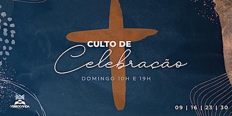 Culto de celebração - 09/maio/2021 bilhetes
