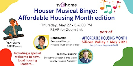 Houser Musical Bingo: Affordable Housing Month edition tickets