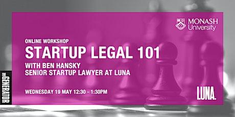 Monash Generator x Luna: Startup Legals 101 entradas