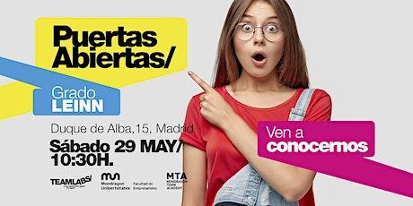 LEINN/ PUERTAS ABIERTAS MADRID [29 MAY | 10H30] entradas