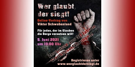 """Online-Vortrag """"Wer glaubt, der siegt!"""" Tickets"""