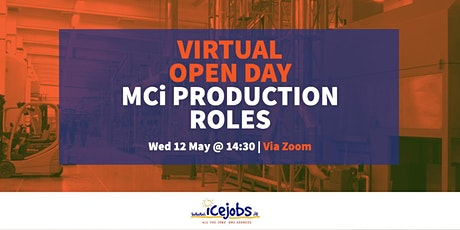 Virtual Open Day - MCi Production Roles tickets