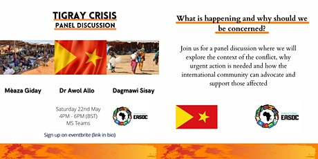 Tigray Crisis Panel Discussion tickets