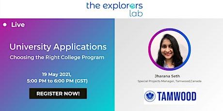 University Applications tickets