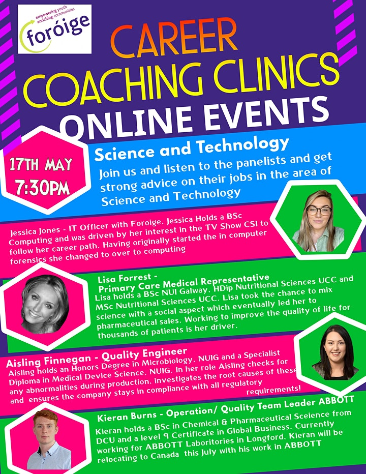 Foróige Careers Coaching Clinic - Science and Tech image