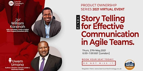 STORY TELLING FOR EFFECTIVE EFFECTIVE COMMUNICATION IN AGILE TEAMS tickets