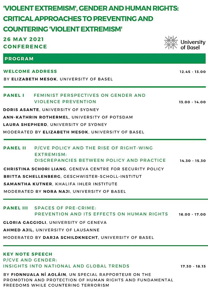 Conference 2021 - 'Violent Extremism', Gender and Human Rights image