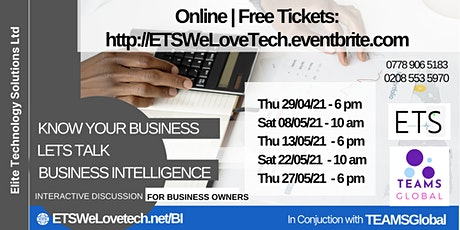 Know Your Business, Lets Talk Business Intelligence Tickets