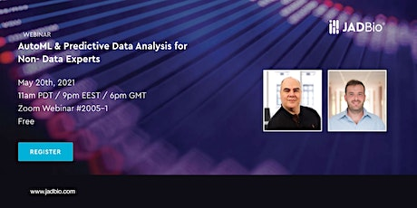 WEBINAR: Accelerating Predictive Data Analysis for Non- Data Experts tickets
