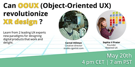 Can OOUX (Object Oriented UX) revolutionize XR design? tickets