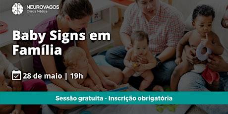 Baby Signs em Família ingressos