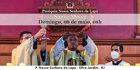 SANTA MISSA - 09/05 - Domingo - 08h ingressos