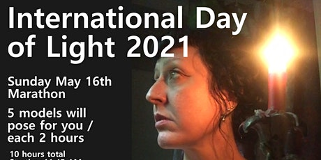 International DAY OF LIGHT Life drawing Marathon 5 Models - one Donation tickets