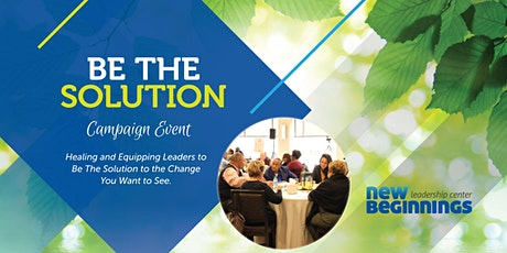 Be The Solution Campaign Event tickets