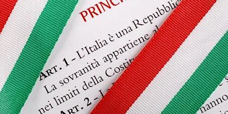 Festa della Repubblica - Cerimonia consegna Costituzione ai diciottenni biglietti