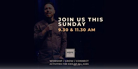Hope Sunday Service / Sunday 9th May  / 11.30am tickets