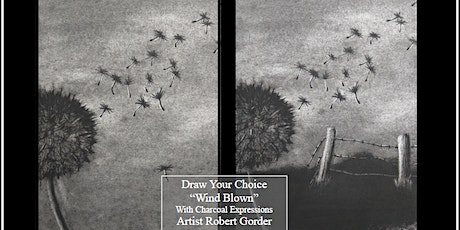 Virtual Charcoal Drawing Event - Wind Blown tickets