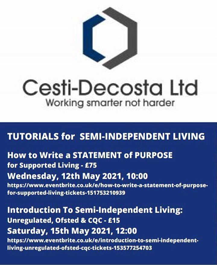 Introduction To SEMI INDEPENDENT LIVING: Unregulated, Ofsted & CQC image
